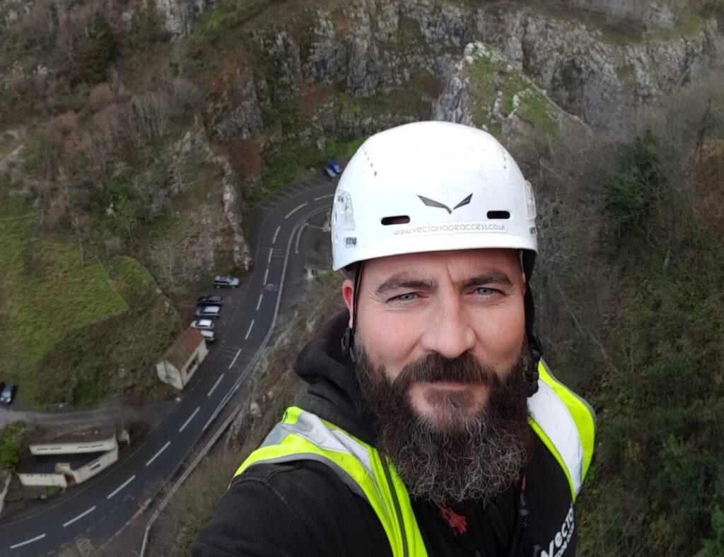 Johnny Hunbt Cheddar Gorge Rope Access