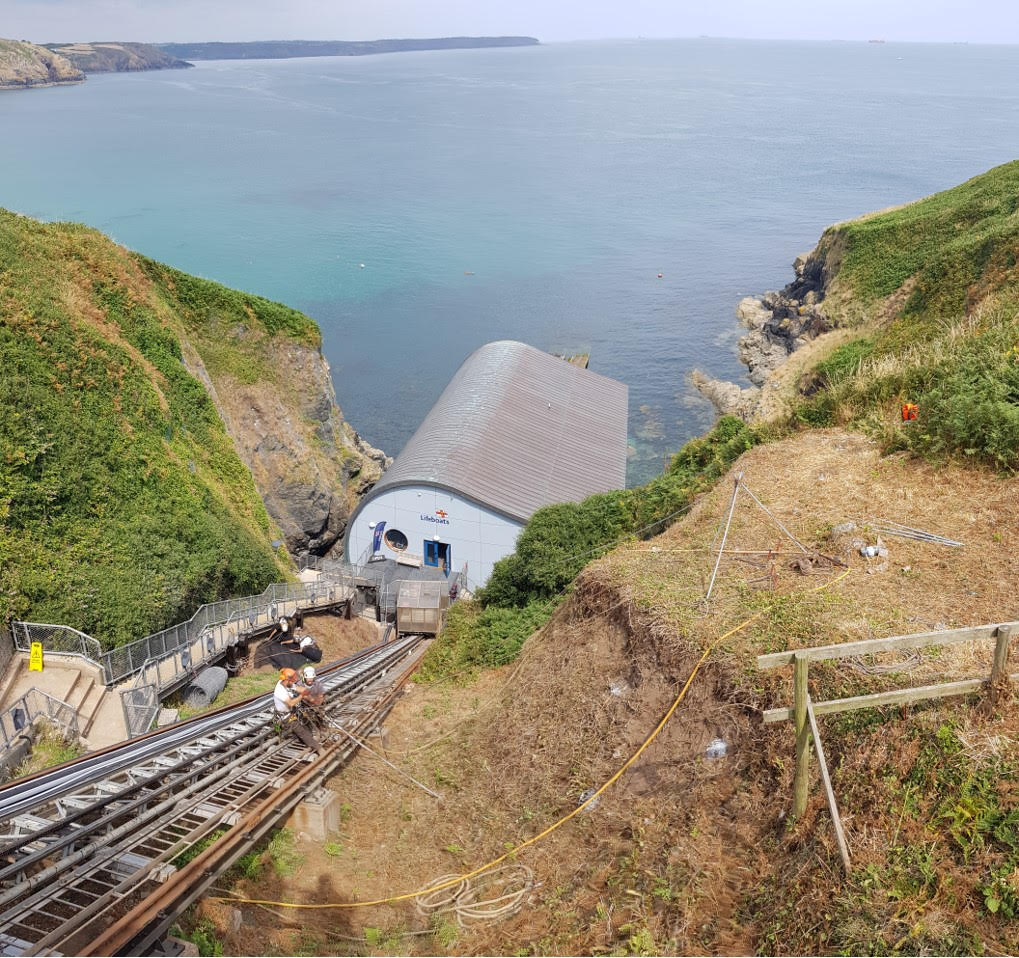 Geotechnical works atLizard Lifeboat Station
